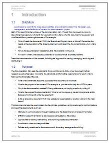 technical document template documentation plan template 28 page ms word