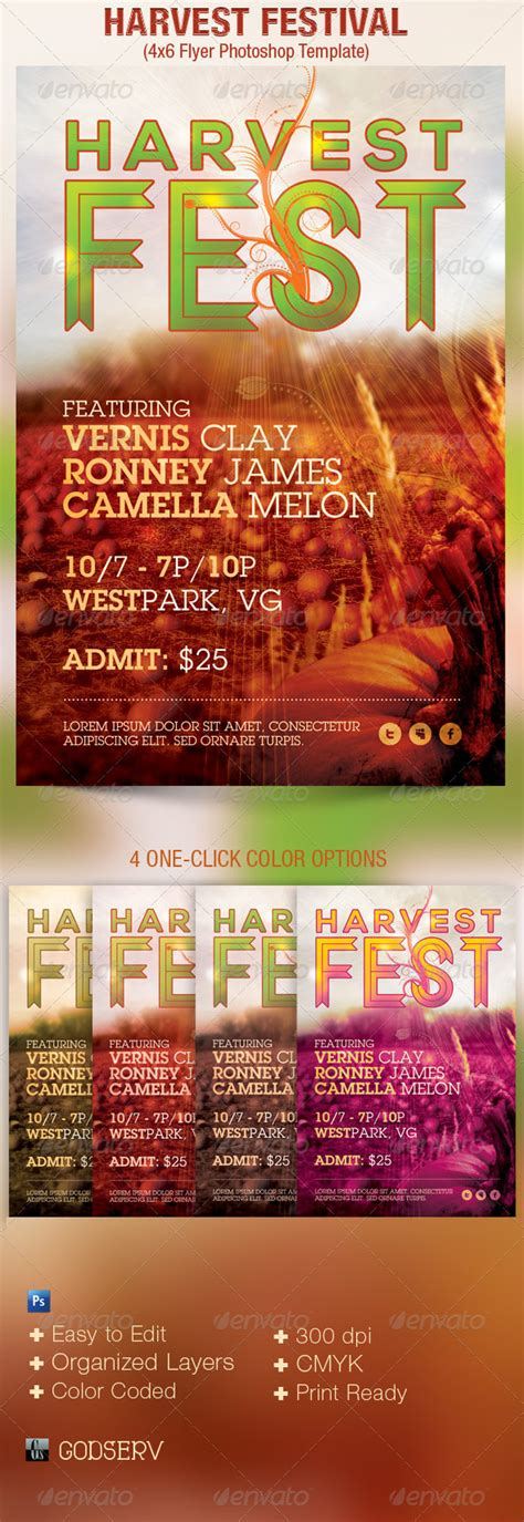 Harvest Festival Church Flyer Template By Godserv Graphicriver Harvest Festival Flyer Free Template