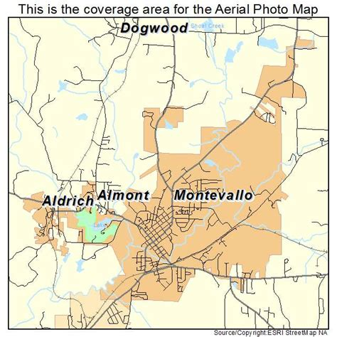 of montevallo aerial photography map of montevallo al alabama