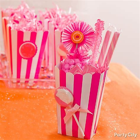 buffet favor boxes pink favor boxes idea pink and orange buffet