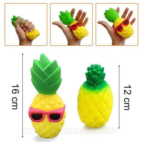 Squishy Jumbo Pineapple Rising Nanas Free Packaging 2018 pineapple squishy sunglasses decompression jumbo scented simulation squishies decoration