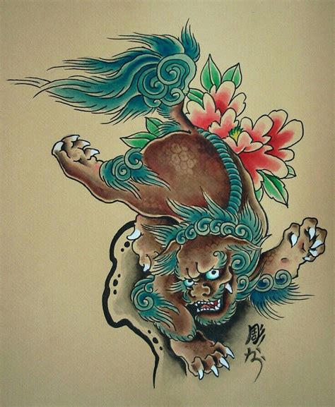 japanese lion tattoo designs best 25 foo ideas on foo foo