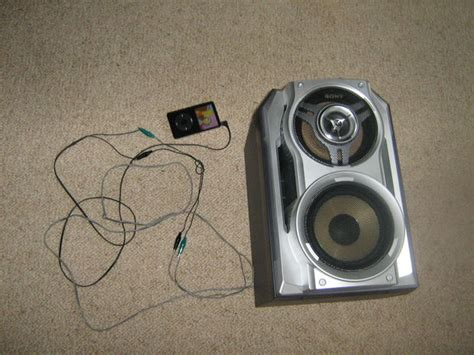 connect an ipod or other mp3 player to normal household