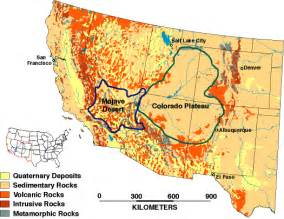The mojave desert is located in california is near colorado plateau