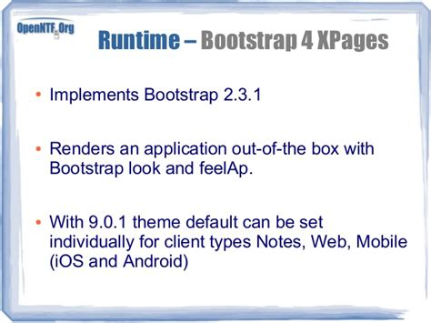 bootstrap themes for xpages openntf essentials
