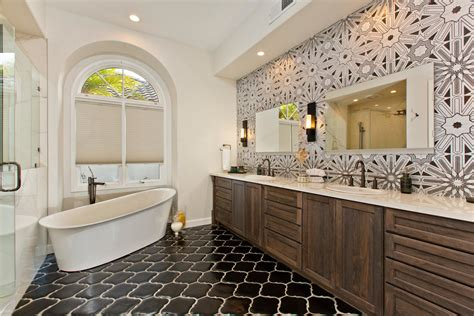 houzz room   day art deco tile dazzles   master