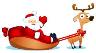 vector cute santa claus elk and free vector 4vector
