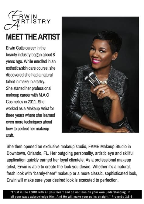 biography for artist exles makeup artist schools in orlando fl fay blog