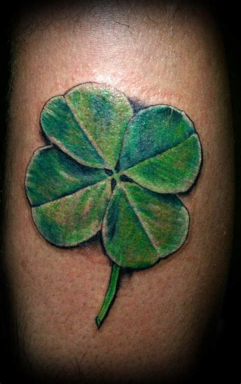30 four leaf clover tattoos to ink