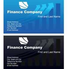 financial business card template free business card vector templates free