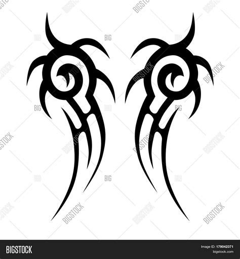 chest tattoo vector tattoo tribal design swirl vector photo bigstock