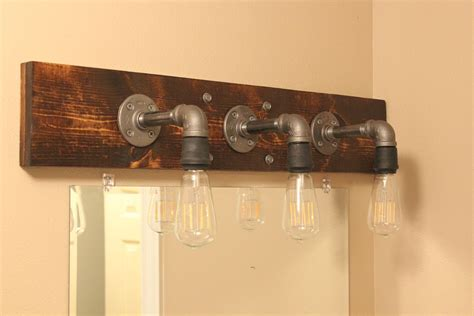 Light Bulbs For Bathroom Fixtures Diy Industrial Bathroom Light Fixtures