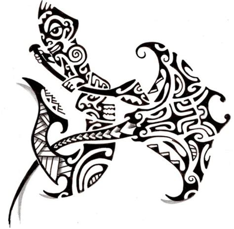 croquis raie maori tiki polyn 233 sien