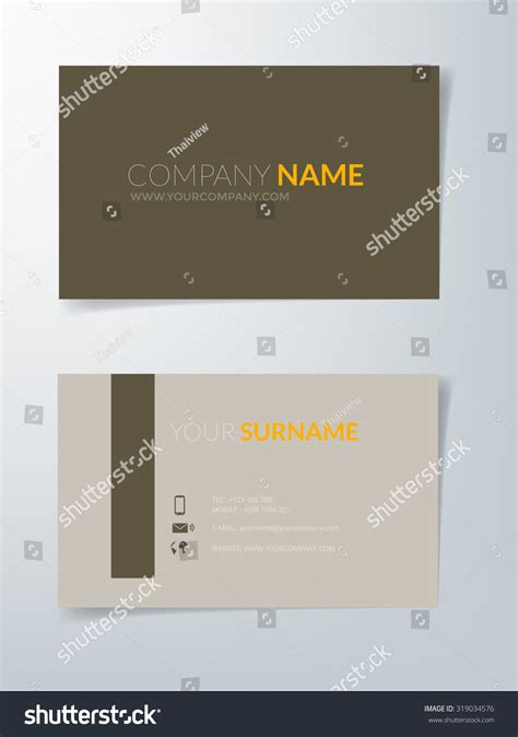 brown card template business card template vector background brown stock