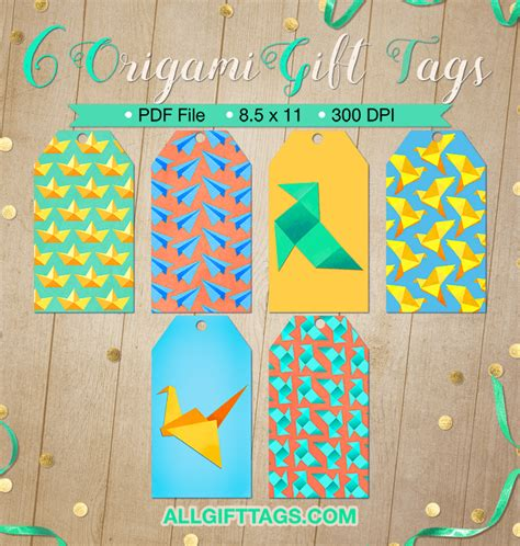 Origami Gift Tag - origami gift tags