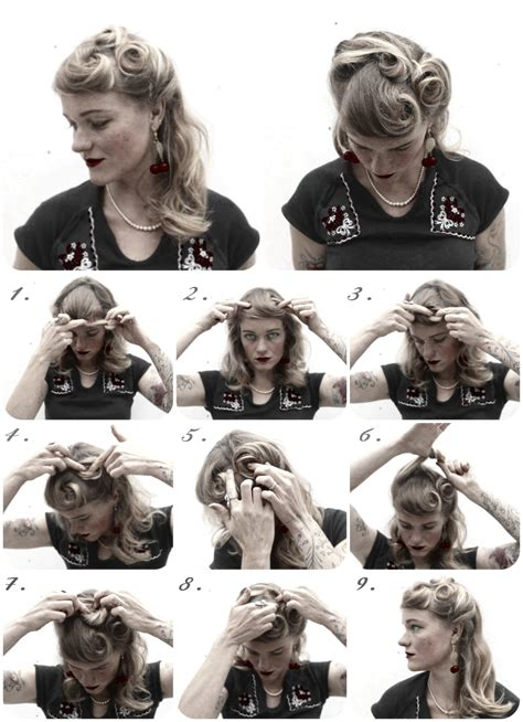 easy to do step by step 1940s hairstyles help 1940s 1960s hair styles for long hair