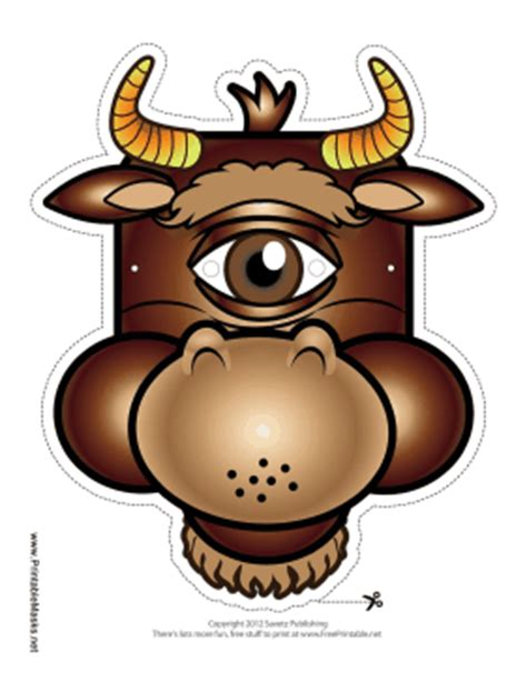 cyclops mask template printable cyclops minotaur mask mask