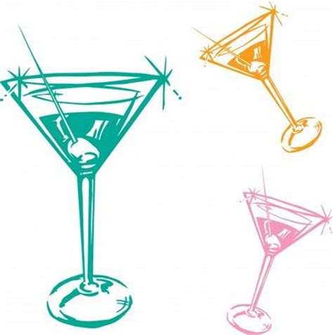 vintage martini clipart cocktail glass illustration chris king as art print or