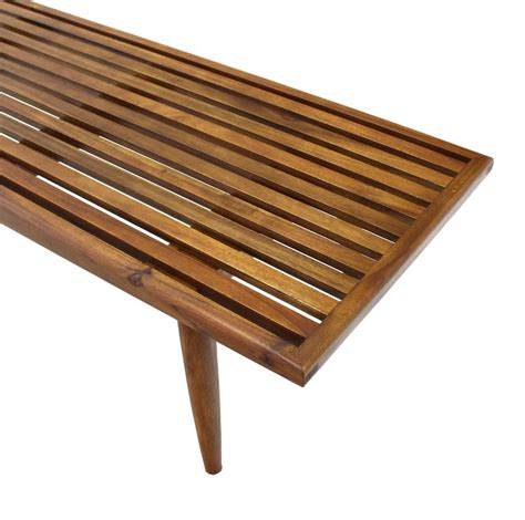 wood slat bench solid oiled slat wood bench for sale at 1stdibs