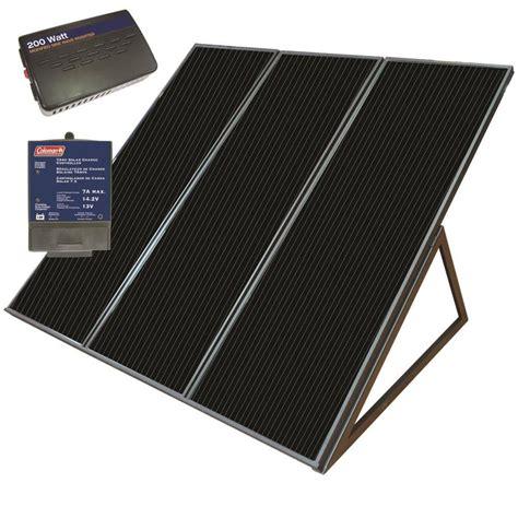 Solar Panels Lubbock - shop coleman 32 in x 38 in x 21 in 55 watt portable solar