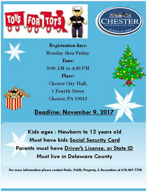 City Of Chester Official Municipal Government Site Toys For Tots Email Template