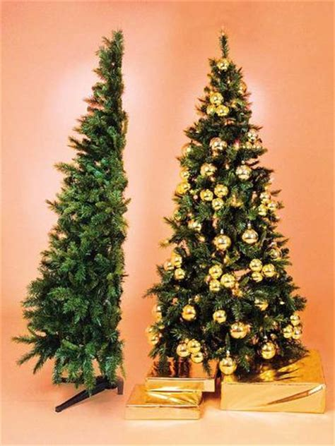 christmas tree hire half tree style fully decorated