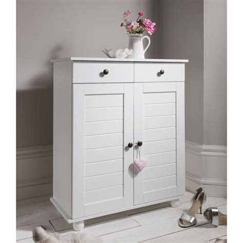 white shoe cabinet shoe storage unit