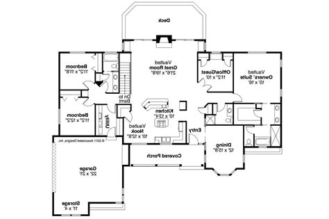 Ranch House Floor Plan by Ranch House Plans Burlington 10 255 Associated Designs