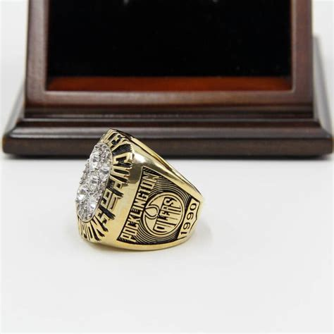Ring Stand Football Club 3 nhl 1990 edmonton oilers stanley cup chionship replica ring