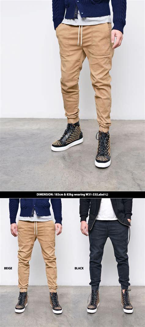 Jogger Semi sales bottoms basic slim semi baggy jogger 212 guylook s trendy fashion