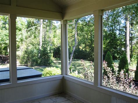 Ideas Types Screened Porch Flooring