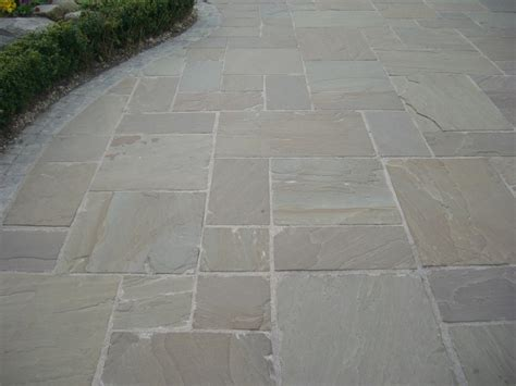 Indian Sandstone Patio Slabs by Indian Sandstone Paving Raj Green Single Sizes Quality