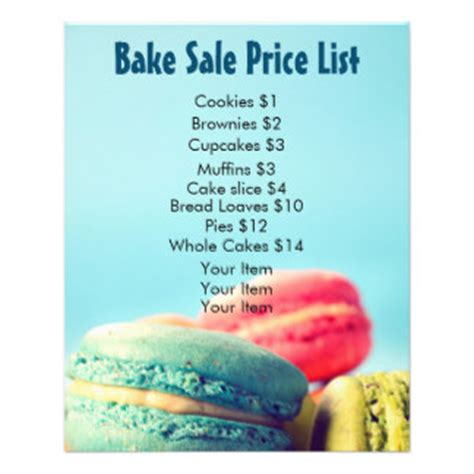 in color cookies in color price list cookies promotional flyers cookies promotional flyer