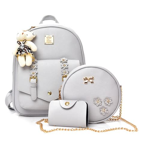 Fashion Set4 Bag Import dxyz small 4pcs set flowers backpack with bag school bags fashion backpack