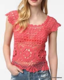 blusas tejidas a crochet con patrones 1 proyecto
