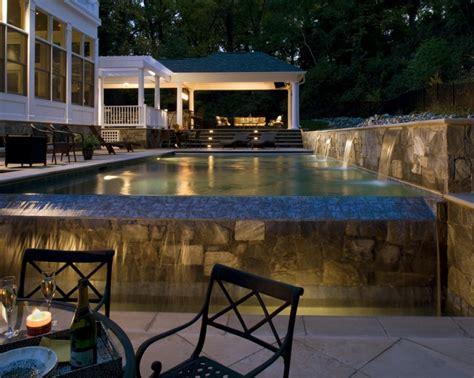 Infinity Pool Designs Terrific Modern Infinity Pools Design With Garden Concept Level Swimming Pool Also Wooden Plank