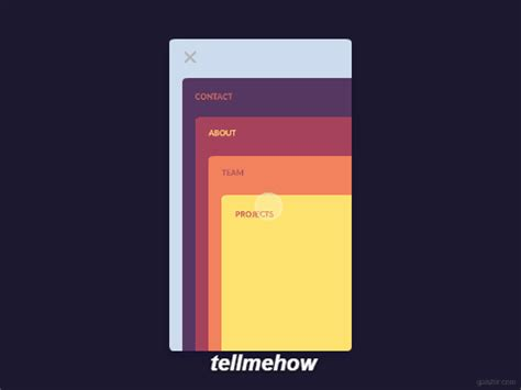 cool cards menu animation android library » tell me how