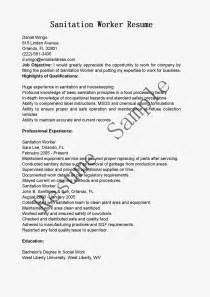 Sanitation Worker Description by Resume Sles Sanitation Worker Resume Sle
