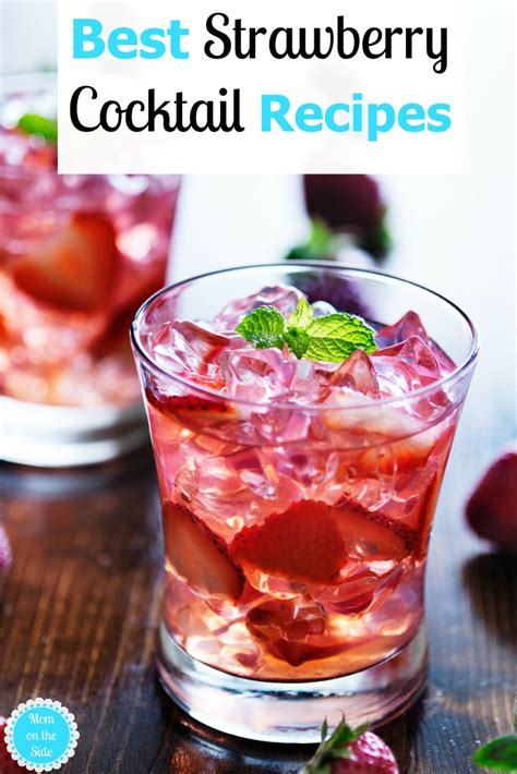 best cocktail recipes best strawberry cocktail recipes for and summer