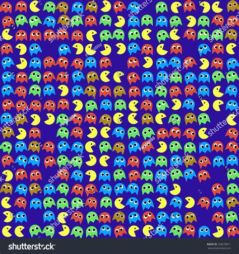 pattern finder game game monsters seamless generated pattern stock photo