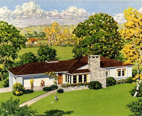 1950 ranch style house plans vintage house design and
