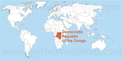 africa map democratic republic of the congo democratic republic of the congo on the world map