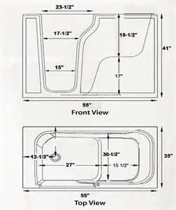 handicap walkintub wide texan 2 sizes 33x54x40 35x54x40