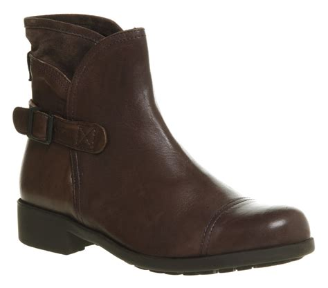 brown womans boots s cer mil plum brown leather ankle boots