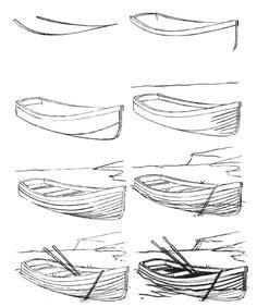 dessin bateau perspective dessin pas 224 pas repr 233 senter des vagues la mer