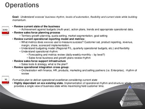 sle business plan operations section sle 90 day leadership plan