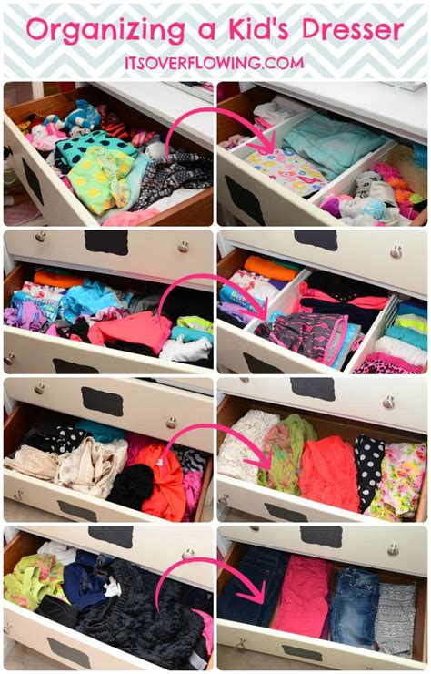 How To Organize Baby Dresser Drawers by Organizing A Dresser Everything Organized
