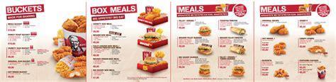 kfc buffet menu kfc