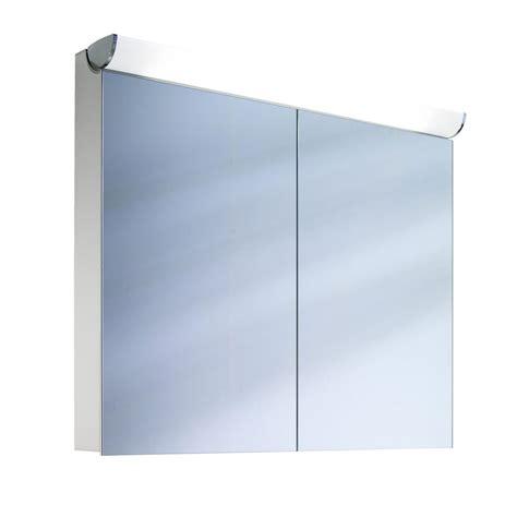 Schneider Mirrored Bathroom Cabinet by Schneider Faceline 2 Door Illuminated Mirror Cabinet 900mm
