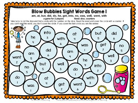 printable dolch word list games dolch sight words games primer list word games learning